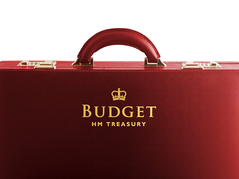The Budget red briefcase
